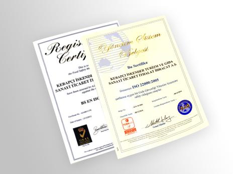 İskender - sertifika